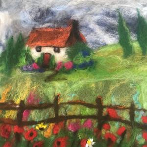 landscape in felt